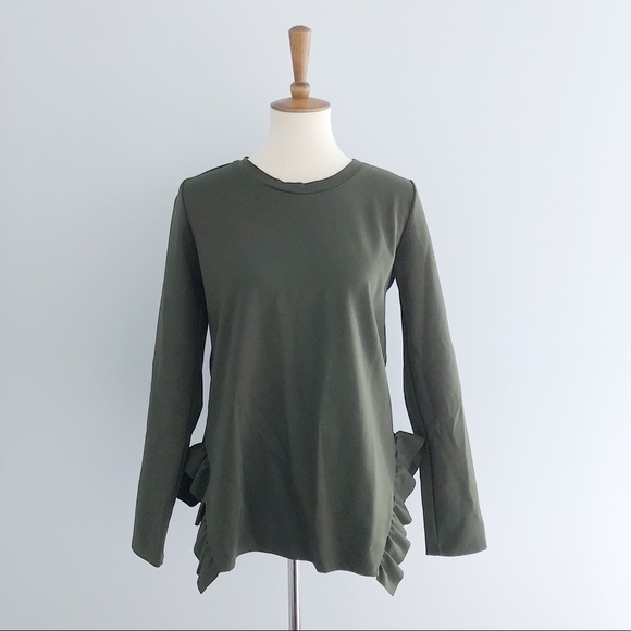 Betsy's Boutique Shop Tops - Betsy's Boutique Long Sleeve Ruffle Bottom Top